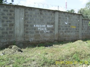 Kiberans Want Peace